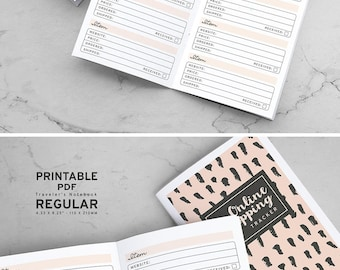 Printable Online Shopping Tracker Traveler's Notebook Inserts, Printable Online Purchase Tracker Traveler's Notebook inserts, PDF file