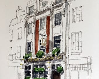 Pub Life: Charming watercolours of London's best pubs - The Two Brewers, Covent Garden.