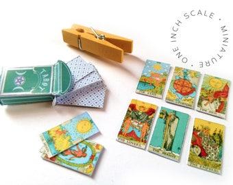 BJD tarot, Miniature tarot deck, witchy bjd, miniatures, tiny major arcana, supernatural dollhouse, miniature tarot, witchy, divination BJD