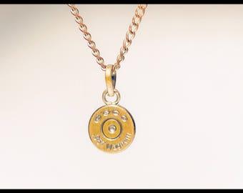 Sweet & delicate bullet pendant necklace
