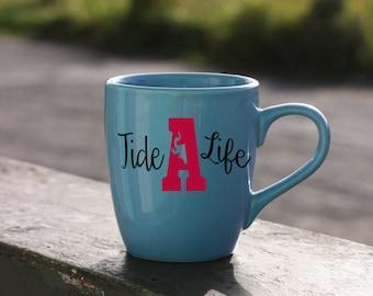 Tide Life-Univeristy Of Alabama Roll Tide-Vinyl Car Decal-Elephant-Coffee Mug-Canvas-Decor-College-