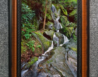 "Framed Smoky Mountains Waterfall Print Fine Art Photo from William Britten ""1000 Drips"""