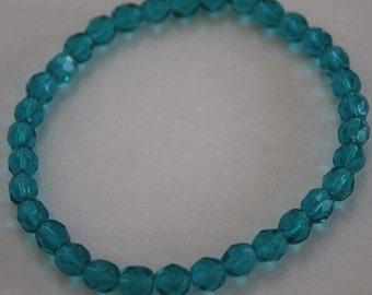 Dark Aqua Crystal Bracelet, Crystal bracelet, Aqua Bracelet, Crystal bracelet