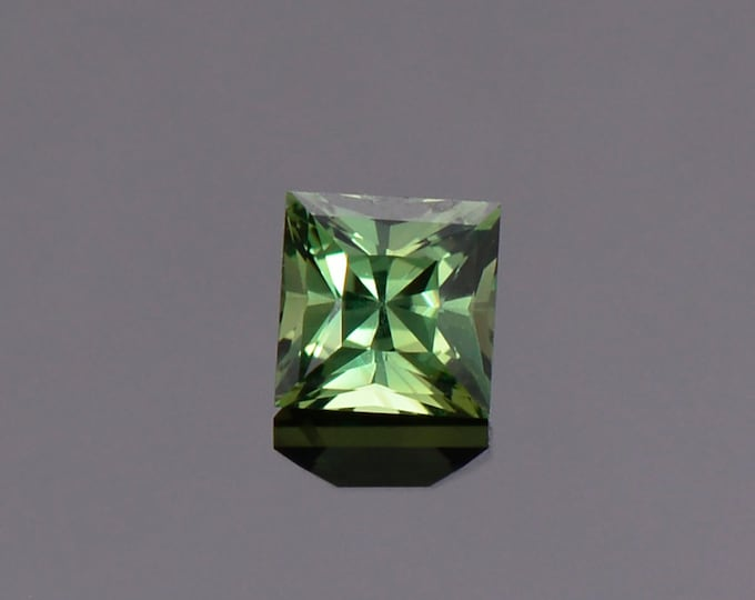 Gorgeous Green Sapphire Gemstone from Tanzania, 1.02 cts., 4.9 mm., Princess Cut.