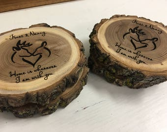 Valentines Day Gift for Her | Boyfriend Gift | Valentines Day Gift for Him | Unique Gift for Her | Wife Gift | Engraved Log Coasters