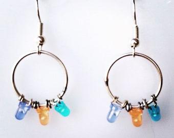 3 LEDs Earrings
