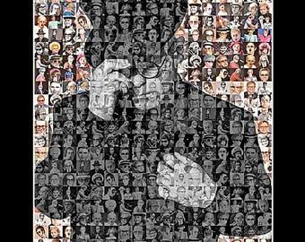 "Elton John Mosaic Print Art- 8x10"" Matted Print"