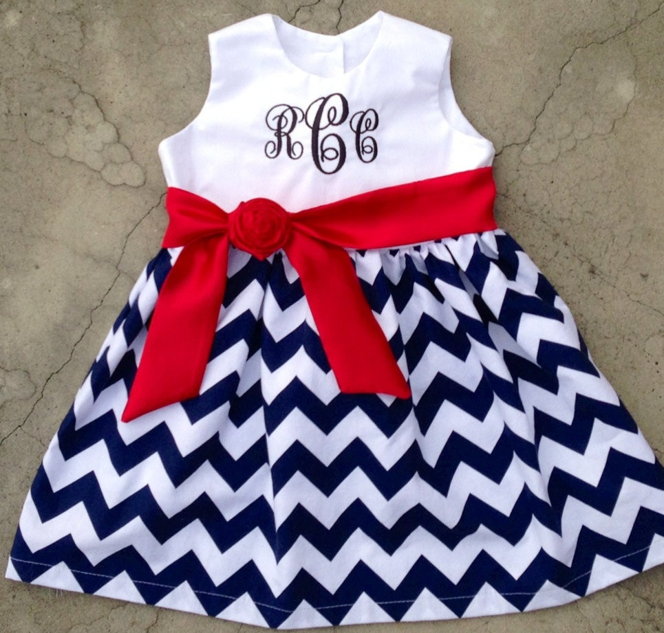 4th of July outfit Fourth of July dress girls dress baby