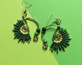 Original earrings macrame - earrings dangle of Festival - ethnic earrings, Bohemian and Hippie - Christmas gift