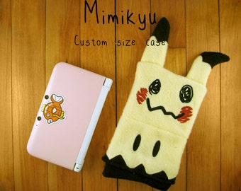 JULY PREORDER 3ds XL Case / Custom Size Pokemon Mimikyu pouch carrying case new 3ds / 3ds xl / nintendo switch / psp vita holder cozy