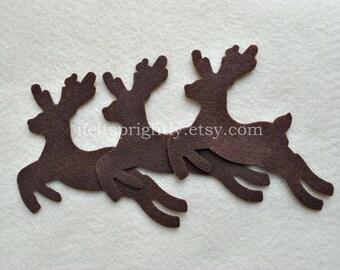 12 Piece Large Die Cut Felt Deer