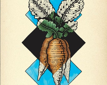 Carrot Geometric Art Print