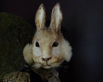 Bunny mask Peter Rabbit paper mache rabbit mask hare mask bunny mask