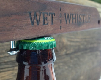 Wood Bottle Opener, beer, wedding gift, fathers day