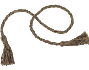 Burlap Jute Tassels Cord, 16-inch, 12-pack