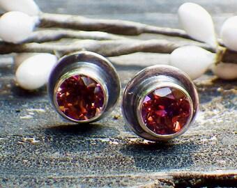 Anastasia topaz sterling silver stud earrings