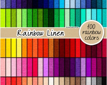 SALE 100 rainbow linen digital paper fabric digital paper textured digital paper linen pattern 12x12 natural pastel neutral bright linens