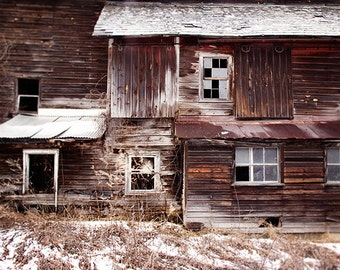 Barn Photography, Abandoned Barn, Rural Decay, Countryside, Brown, Window Photography, Rustic Home decor, Farmhouse, dark, country