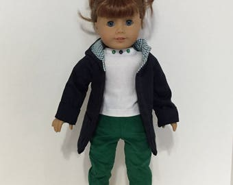 Winter ensemble for American Girl dolls and other 18 in dolls