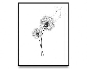 Dandelion Wall Print, Wall Print Dandelion, Dandelion Prints, Dandelion Print, Dandelion Printable, Dandelion Art Print