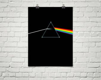 Pink Floyd Dark Side Of The Moon Poster, Premium Semi-Gloss Photo Paper Poster
