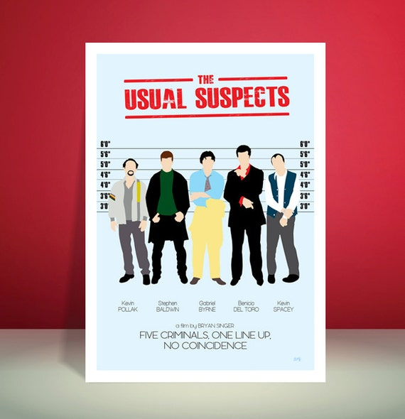 The Usual Suspects // Minimalist Movie Poster // Unique Art Print