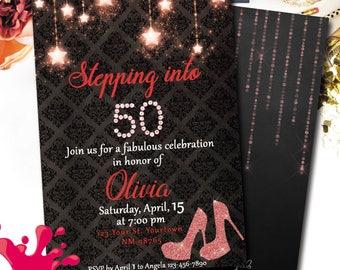 High heel invitation Etsy