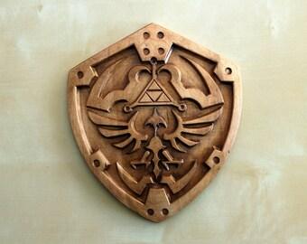 """Wooden Hylian Shield (9"""" x 8"""")"""