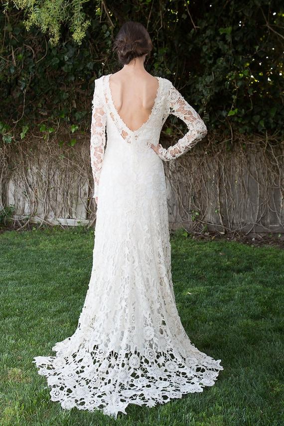 Low Open Back Lace Wedding Dress