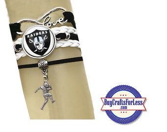 NeW - RAIDERS Bracelet - CHooSE from 7 Charms - Super CUTE!  +FREE SHiPPiNG & Discounts*