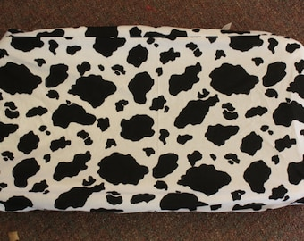 Cow changing pad cover
