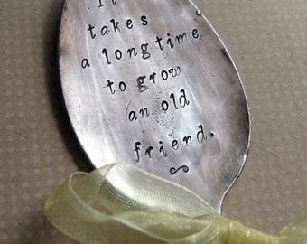 Garden Stampings vintage spoon Old Friends - spoon plant marker