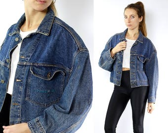 Blue Denim Jacket / Blue Jean Jacket / Denim Jacket Patch / Jean Jacket Patch / Jean Jacket / Vintage Denim Jacket / Vintage Jean Jacket