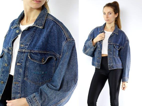 Blue Denim Jacket / Blue Jean Jacket / Denim Jacket Patch / Jean Jacket Patch / Jean Jacket / Vintage Denim Jacket /Vintage Jean Jacket JJ89
