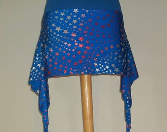 Patriotic Belly Dance Over Skirt