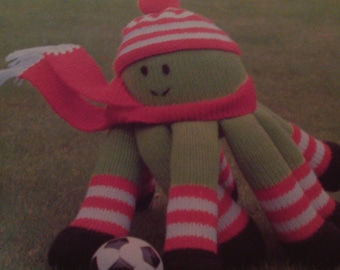 Handmade Knitted Octopus Sport Mascot, (New. Made To Order)