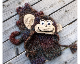 Monkey - Baby Monkey Costume, Monkey Photo prop, Monkey Halloween Costume with Tail, by JoJo's Bootique