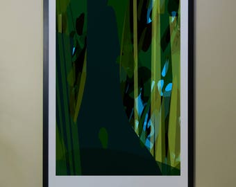 "Abstract Composition: Aspen_06_01d - Contemporary Art - Abstract Design - 26"" x 46"" and 13"" x 19"" - Limited Edition Print"