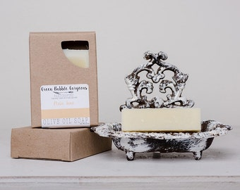 Unscented Olive Oil Soap, Plain Jane (Unscented), 4.5 oz., made with organic oils  by Green Bubble Gorgeous on etsy