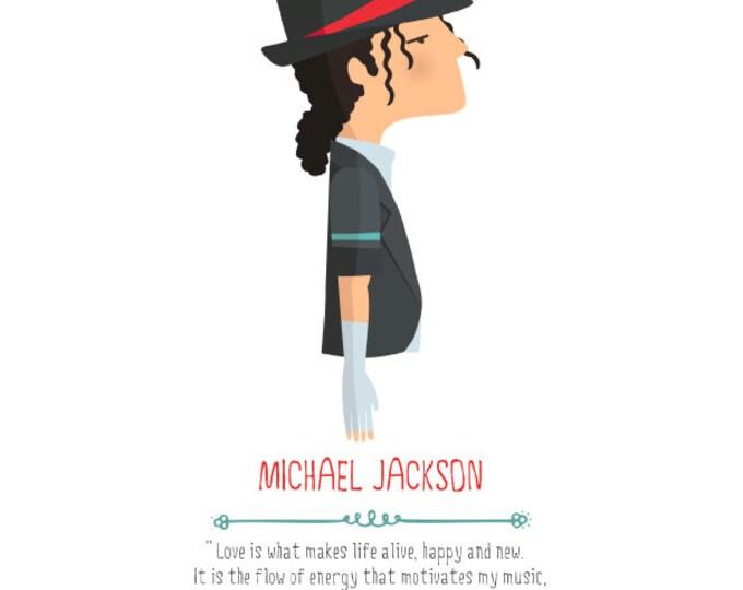 """Ilustración """"Michael Jackson""""."""
