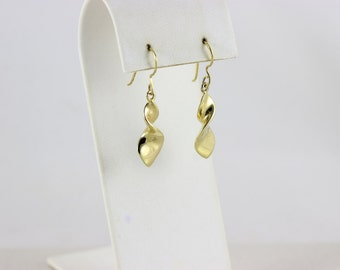 Gold Over Sterling dangle drop Earrings