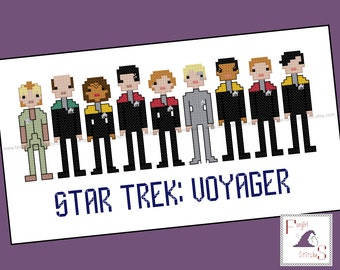 Star Trek Parody Voyager Cross Stitch - PDF Pattern - INSTANT DOWNLOAD