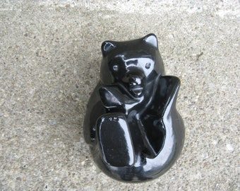 pigeon forge pottery douglas ferguson black bear cub signed art pottery gift idea man cave