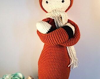 Amigurumi Lalylala Fibi the Fox crochet doll