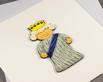 3D Blank Quilled Queen Quilling Card