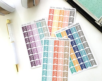 Plan flag stickers (2017 inkWELL Press colors)