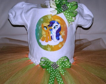 My Little Pony Tutu Set, My Little Pony Birthday Outfit, Halloween Outfit, Dress Up Outfit, My Little Pony