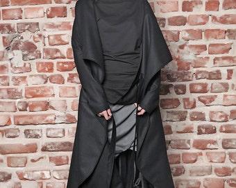 Maxi Coat/ Cashmere Coat/ Womens Coat/ Oversize Coat / Plus Size Coat / Winter Coat/ Black Coat/ Long Coat/ Plus Size Jacket/ Long Jacket