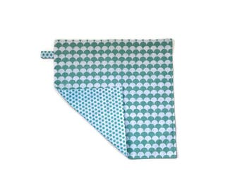 child's napkin reversible blue/green. Gift for child .rentree school