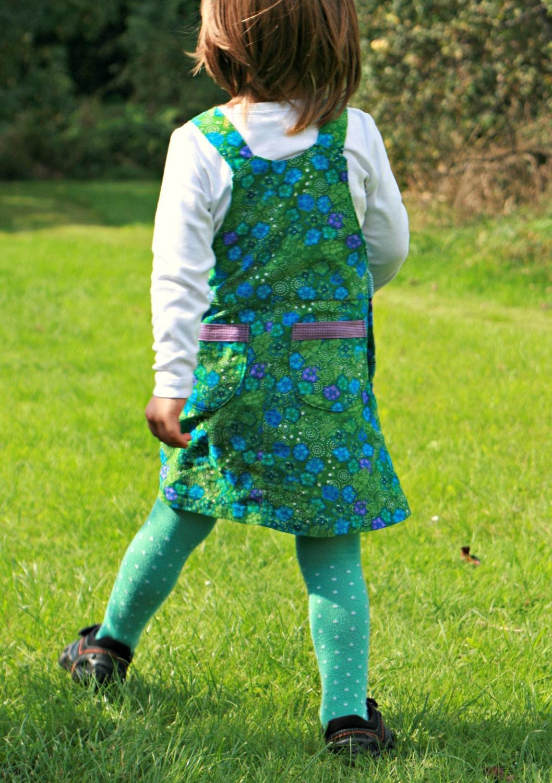 Girl Dress Pinafore sewing pattern Pdf, BLOOMY Skirt Dungaree ...